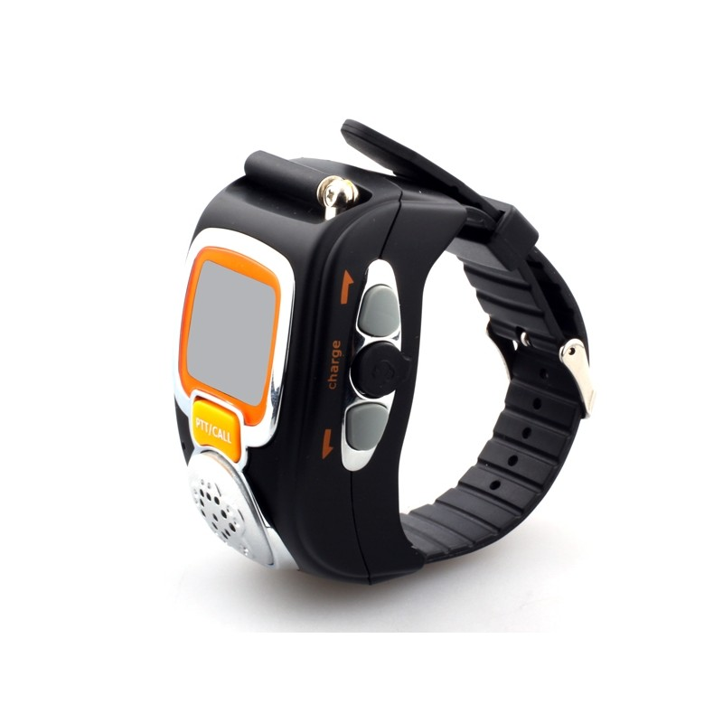 Walkie-talkie Wrist Watch - Built-in Microphone - LCD Display with Backlight