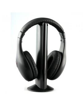 Auriculares estéreo inalámbricos con transmisor FM y receptor