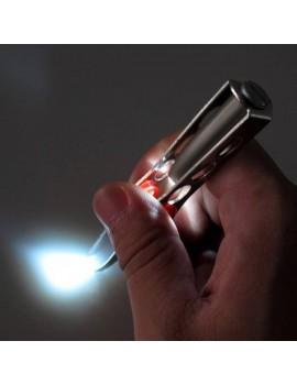Antideslizante Grip Práctico pinzas de la ceja del LED, luz incorporada del LED