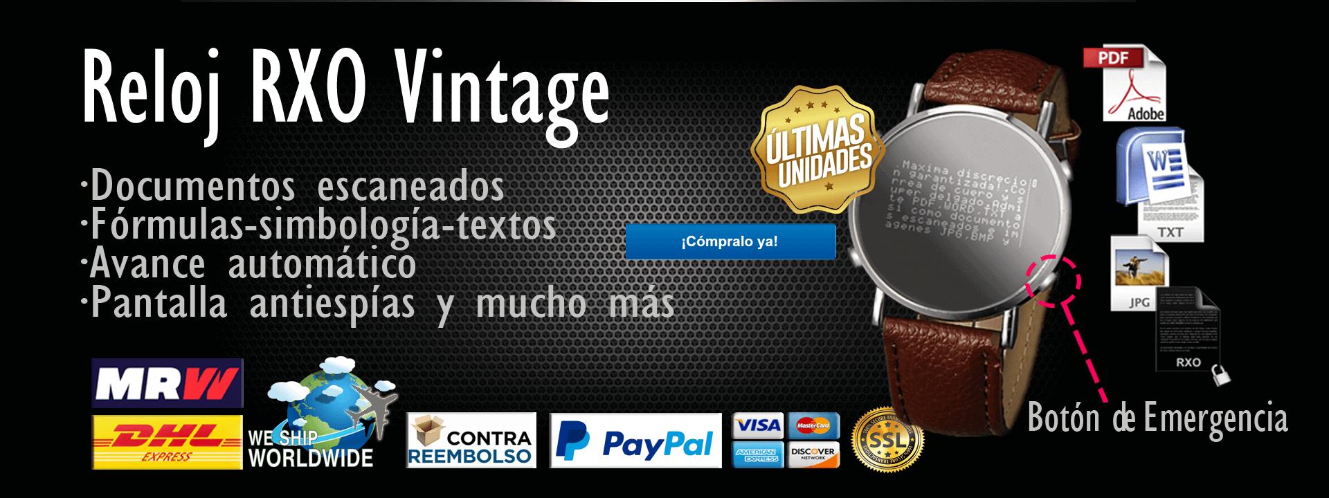 RXO Vintage reloj chuleta